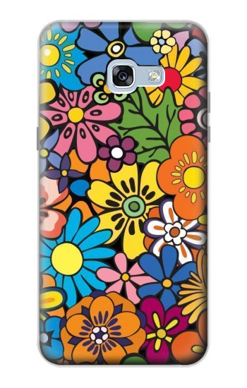 Printed Colorful Flowers Pattern Samsung Galaxy A5 (2017) Case