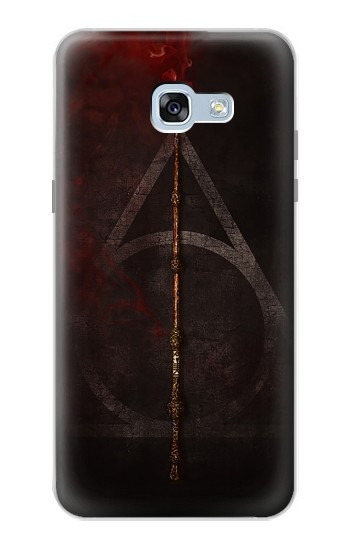 Printed Deathly Hallows Magic Wand Red Samsung Galaxy A5 (2017) Case