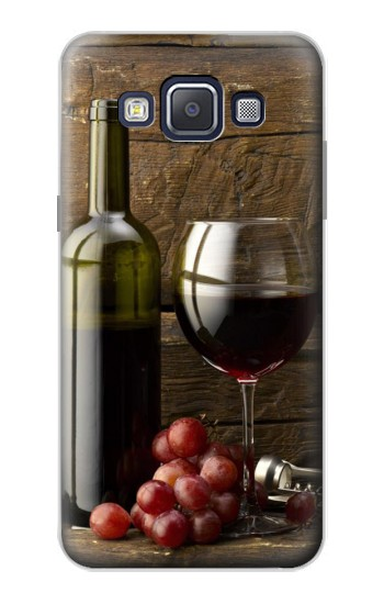 Printed Grapes Bottle and Glass of Red Wine Samsung Galaxy A5, A5 Duos Case