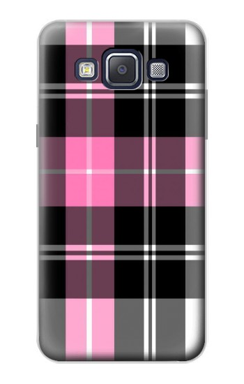 Printed Pink Plaid Pattern Samsung Galaxy A5, A5 Duos Case