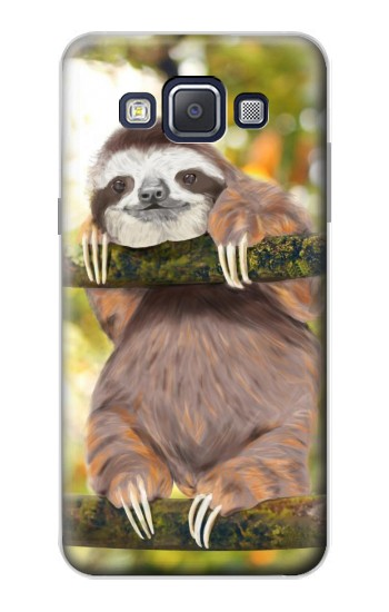 Printed Cute Baby Sloth Paint Samsung Galaxy A5, A5 Duos Case