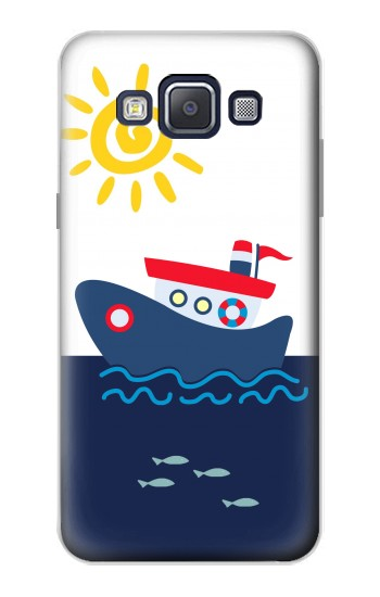 Printed Cartoon Fishing Boat Samsung Galaxy A5, A5 Duos Case
