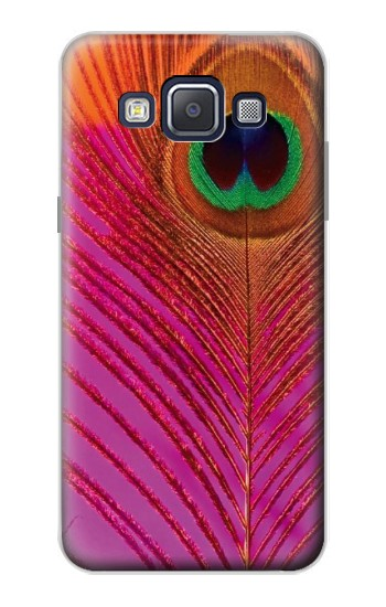 Printed Pink Peacock Feather Samsung Galaxy A5, A5 Duos Case