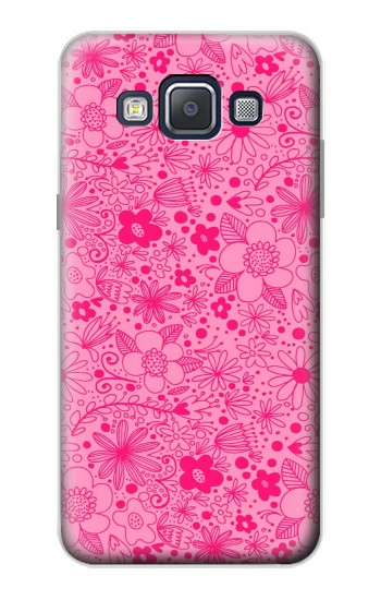 Printed Pink Flower Pattern Samsung Galaxy A5, A5 Duos Case