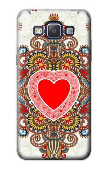 Printed Heart Pattern Line Art Samsung Galaxy A5, A5 Duos Case