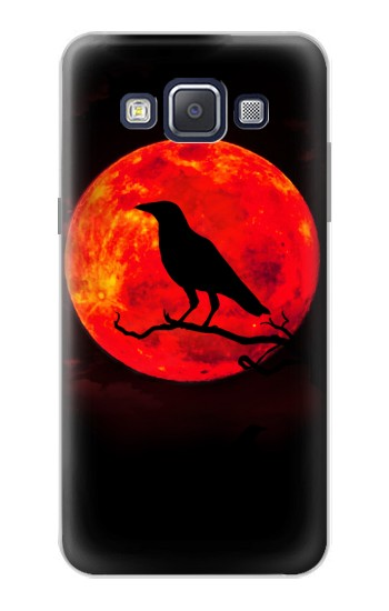 Printed Crow Red Moon Samsung Galaxy A5, A5 Duos Case
