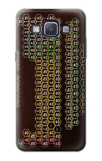 Printed Neon Honeycomb Periodic Table Samsung Galaxy A5, A5 Duos Case
