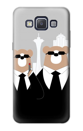 Printed Bear in Black Suit Samsung Galaxy A5, A5 Duos Case