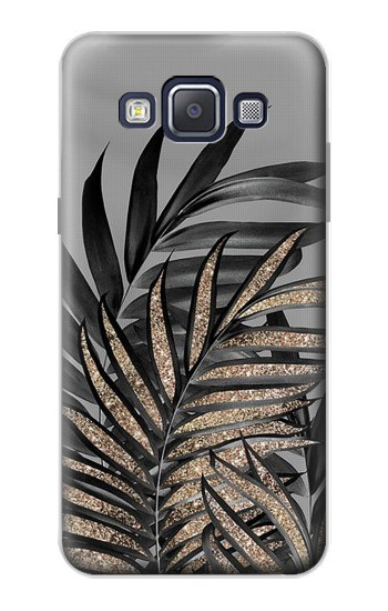 Printed Gray Black Palm Leaves Samsung Galaxy A5, A5 Duos Case