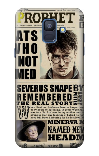Printed Harry Potter Daily Prophet Samsung Galaxy A6 (2018) Case