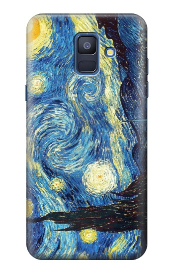 Printed Van Gogh Starry Nights Samsung Galaxy A6 (2018) Case