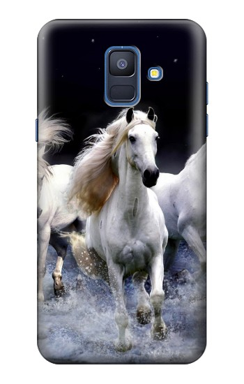 Printed White Horse Samsung Galaxy A6 (2018) Case