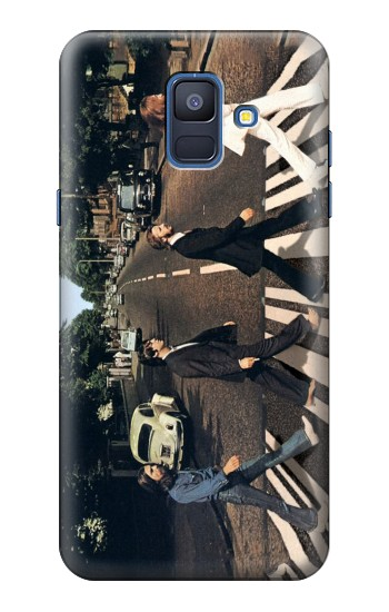 Printed The Beatles Abbey Road Samsung Galaxy A6 (2018) Case