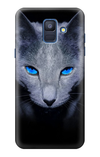 Printed Russian Blue Cat Samsung Galaxy A6 (2018) Case