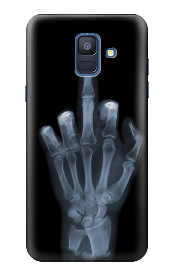 Printed X-ray Hand Middle Finger Samsung Galaxy A6 (2018) Case