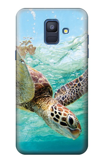 Printed Ocean Sea Turtle Samsung Galaxy A6 (2018) Case