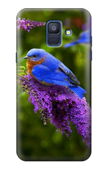 Printed Bluebird of Happiness Blue Bird Samsung Galaxy A6 (2018) Case