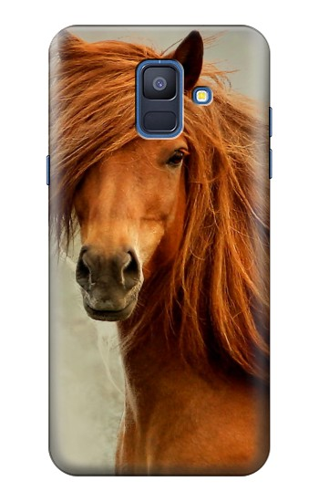 Printed Beautiful Brown Horse Samsung Galaxy A6 (2018) Case