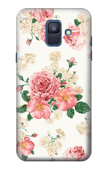 Printed Rose Pattern Samsung Galaxy A6 (2018) Case