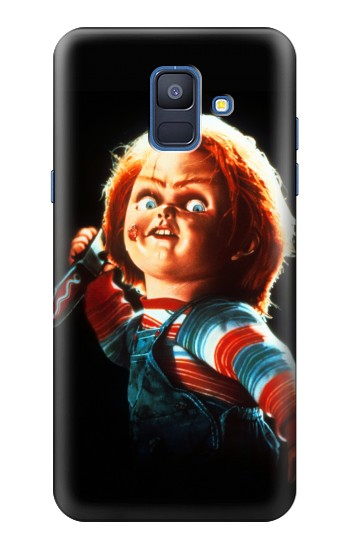 Printed Chucky With Knife Samsung Galaxy A6 (2018) Case