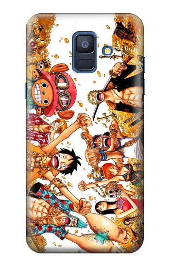 Printed One Piece Straw Hat Luffy Pirate Crew Samsung Galaxy A6 (2018) Case