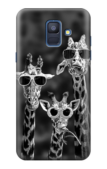 Printed Giraffes With Sunglasses Samsung Galaxy A6 (2018) Case