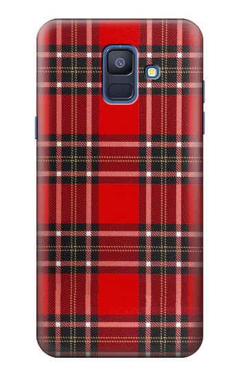 Printed Tartan Red Pattern Samsung Galaxy A6 (2018) Case
