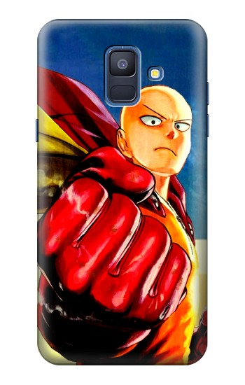 Printed Saitama One Punch Man Samsung Galaxy A6 (2018) Case