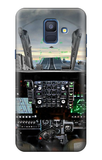 Printed Fighter Jet Aircraft Cockpit Samsung Galaxy A6 (2018) Case