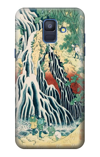 Printed Kirifuri Waterfall at Kurokami Mountain in Shimotsuke Samsung Galaxy A6 (2018) Case