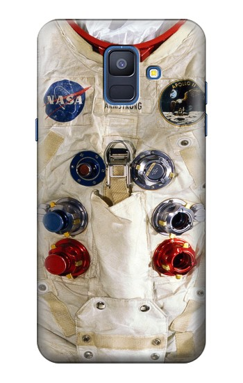 Printed Neil Armstrong White Astronaut Spacesuit Samsung Galaxy A6 (2018) Case