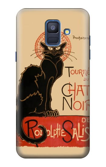 Printed Chat Noir The Black Cat Samsung Galaxy A6 (2018) Case