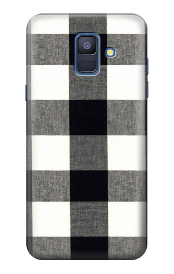 Printed Black and White Buffalo Check Pattern Samsung Galaxy A6 (2018) Case