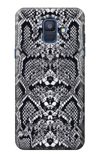 Printed White Rattle Snake Skin Samsung Galaxy A6 (2018) Case