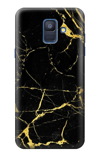 Printed Gold Marble Graphic Printed Samsung Galaxy A6 (2018) Case
