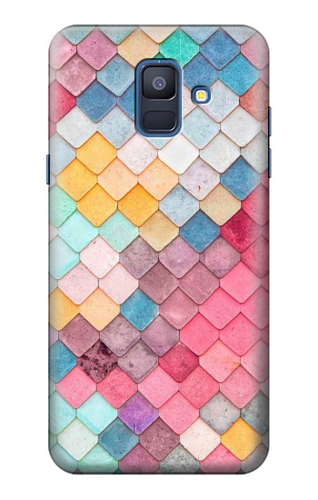 Printed Candy Minimal Pastel Colors Samsung Galaxy A6 (2018) Case