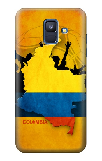 Printed Colombia Football Flag Samsung Galaxy A6 (2018) Case