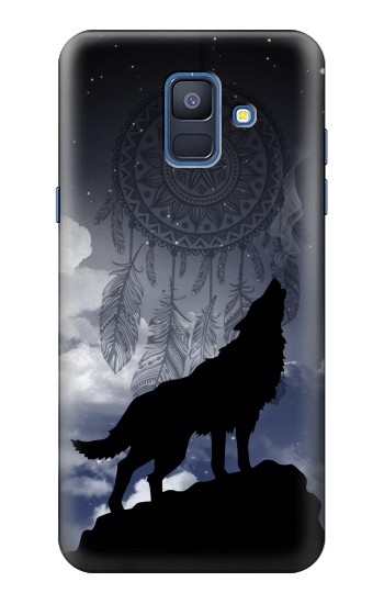 Printed Dream Catcher Wolf Howling Samsung Galaxy A6 (2018) Case