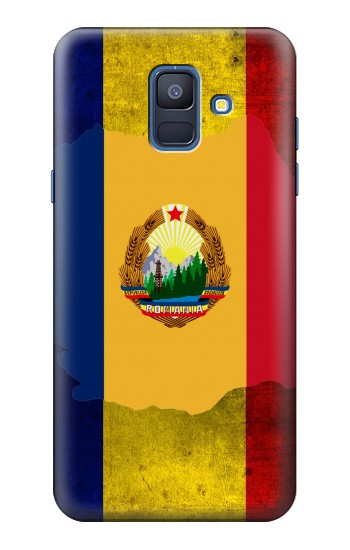 Printed Romania Flag Samsung Galaxy A6 (2018) Case