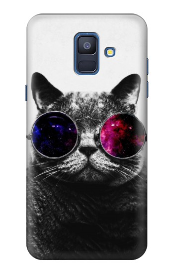 Printed Cool Cat Glasses Samsung Galaxy A6 (2018) Case