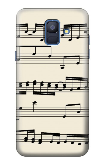 Printed Music Sheet Samsung Galaxy A6 (2018) Case