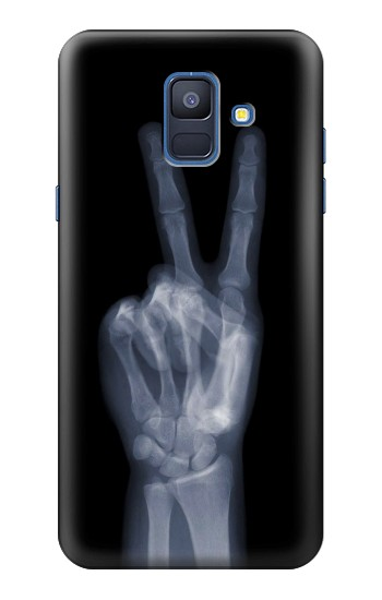 Printed X-ray Peace Finger Samsung Galaxy A6 (2018) Case