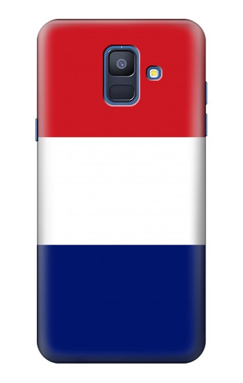 Printed Flag of France and the Netherlands Samsung Galaxy A6 (2018) Case