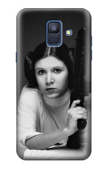 Printed Princess Leia Carrie Fisher Samsung Galaxy A6 (2018) Case