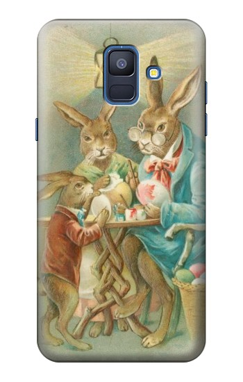 Printed Easter Rabbit Family Samsung Galaxy A6 (2018) Case