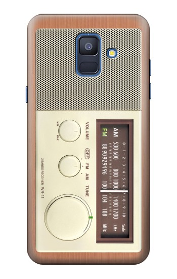 Printed FM AM Wooden Receiver Graphic Samsung Galaxy A6 (2018) Case