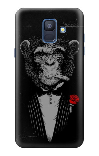 Printed Funny Monkey God Father Samsung Galaxy A6 (2018) Case