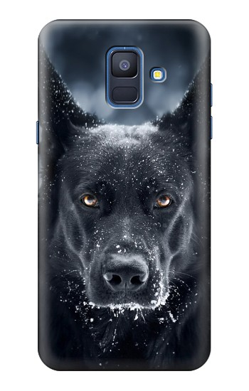 Printed German Shepherd Black Dog Samsung Galaxy A6 (2018) Case