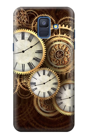 Printed Gold Clock Live Samsung Galaxy A6 (2018) Case