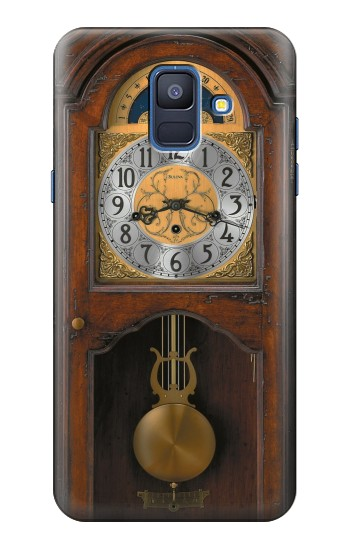 Printed Grandfather Clock Antique Wall Clock Samsung Galaxy A6 (2018) Case